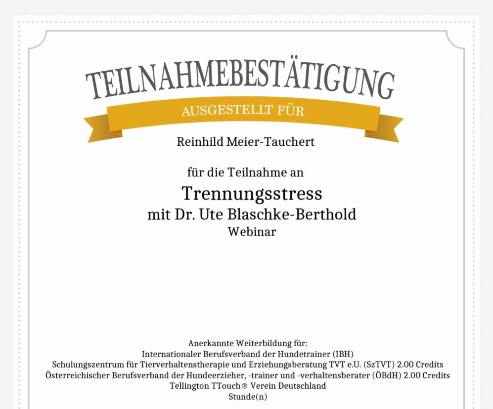 TN-Trennungsstress